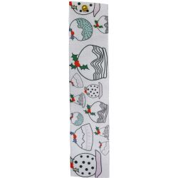 Christmas Pudding Ribbon 25mm x 25m