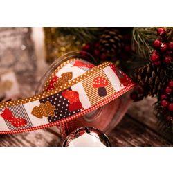 Christmas Ribbon, 40mm wired edged taffeta
