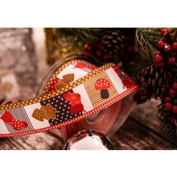 brown and orange 40mm christmas themed ribbon