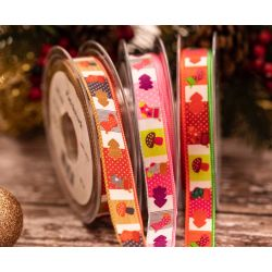 15mm wide christmas ribbon Patchwork by Kuny