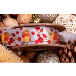 25mm Christmas Robin Design With Red Berry