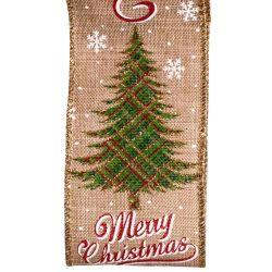 Christmas Tree Merry Christmas Ribbon