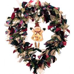 Large luxury ribbon wreath kit