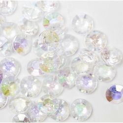 Diamond Shaped Faceted Beads In An Iridescent Shade