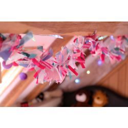 Girls, Flamingo and unicorn themed ribbon garland kit