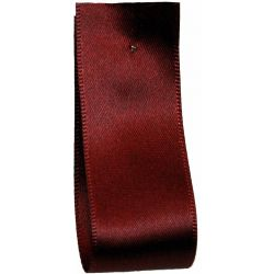 Shindo Double Satin Ribbon Burgundy (Col: 040) - 3mm - 38mm widths
