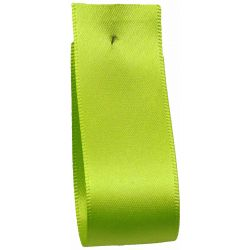 Shindo Double Satin Ribbon Lime Green (Col: 037) - 3mm - 50mm widths