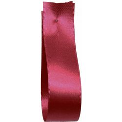 Shindo Double Satin Ribbon Deep Red (Col: 053) - 3mm - 38mm widths