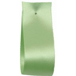 Shindo Double Satin Ribbon Apple Green (Col: 113) - 3mm - 38mm widths