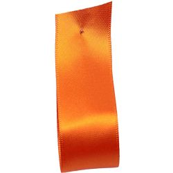 Shindo Double Satin Ribbon Orange (Col: 120) - 3mm - 50mm widths