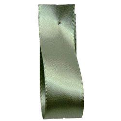 Shindo Double Satin Ribbon Khaki Green (Col: 203) - 3mm - 50mm widths