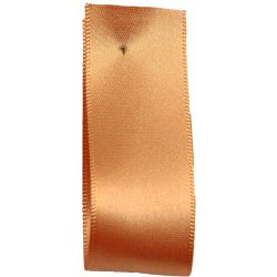 Shindo Double Satin Ribbon Apricot (Col: 021) - 3mm - 38mm widths