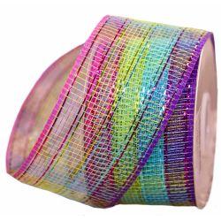 Colourful Check Deco Mesh 63mm x 10m