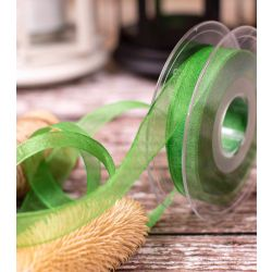 15mm Cyprus Green Super Sheer Ribbon