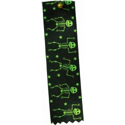 Green Dancing Skeleton Halloween Ribbon 25mm x 20m