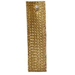 Dark Gold Textured Metallic Ribbon 3mm x 50m