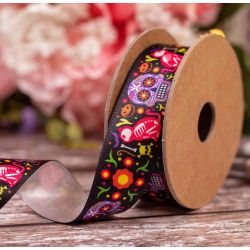 Day of the Dead Ribbon - 25mm x 4m