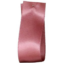 Newlife Double Satin Ribbon 100% Recycled Plastic: Dusky Pink (Col 60) - 3mm - 70mm widths