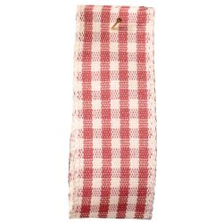 Rustic Gingham Ribbon in Dusky Pink (Colour 60) - available in 7mm - 25mm widths