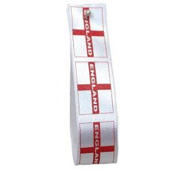 St Georges Flag / England Ribbon 25mm x 20