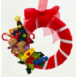 Felt Christmas Wreath Kit