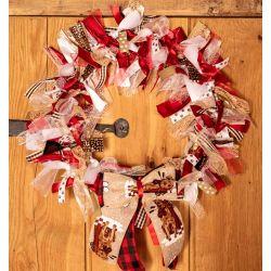 Festive Dog Wreath Ribbon Wreath Kit