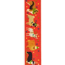 Festive Pets by Berisfords in Red - 25mm x 25m