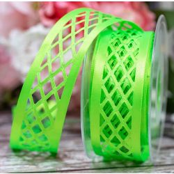 Trellis Ribbon In Flo Green By Berisfords Ribbons