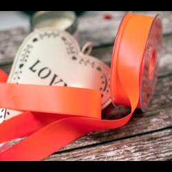 25mm Flo orange / Pink Double Satin Ribbon