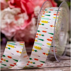 Funky Forest Christmas Ribbon 25mm x 25m