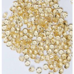 6mm Diamond Shaped Faceted Beads In Pale Gold