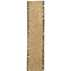 Metallic Gold Edged Gold Satin Ribbon in 3mm, 7mm,15mm, 25mm widths