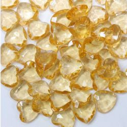 Heart Shaped Faceted Beads In Gold