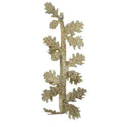 Gold Lame Ribbon With Gold Oak Leaf Design