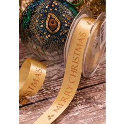 Merry Christmas on glitter satin ribbon