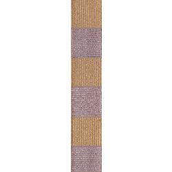 Silver & Gold Cross Hatch Christmas Ribbon By Berisfords Ribbons