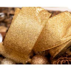 63mm Gold Sparkle Ribbon