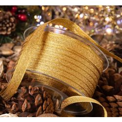 10mm Gold Sparkle Ribbon By Berisfords Ribbons