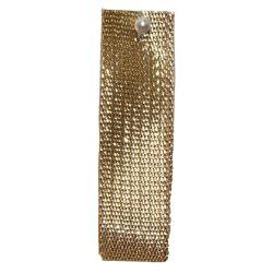 Gold Textured Metallic Ribbon 3mm x 50m