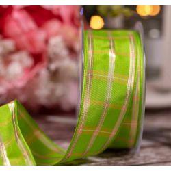 Regal Tartan Ribbon by Beresfords in Apple Green - 40mm x 20m