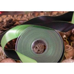 green and black 25mm satin ribbon