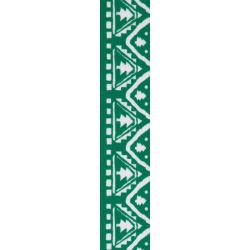 Green ribbon with white nordic tree design