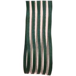 Green Striped Ribbon In A 38mm Width