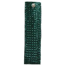 Green Textured Metallic Ribbon