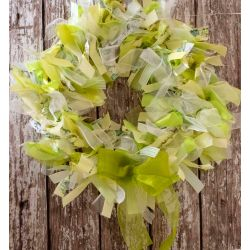 Green Ribbon Wreath Kit