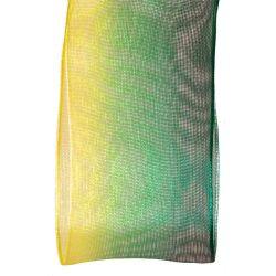 green and yellow variegated sheer ribbon