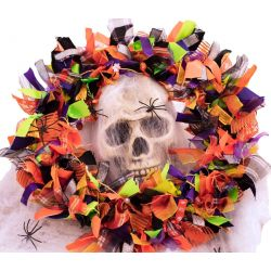 Halloween ribbon wreath kit
