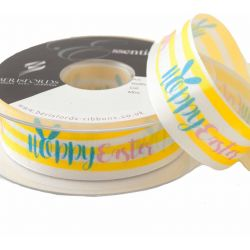 Hoppy Easter Ribbon 25mm x 25m