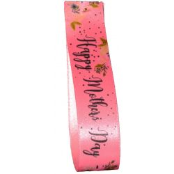 Pink Mothers Day Ribbon 25mm