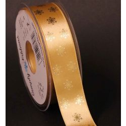 Honey Gold Polka Flake Ribbon 25mm x 20m - Special Offer